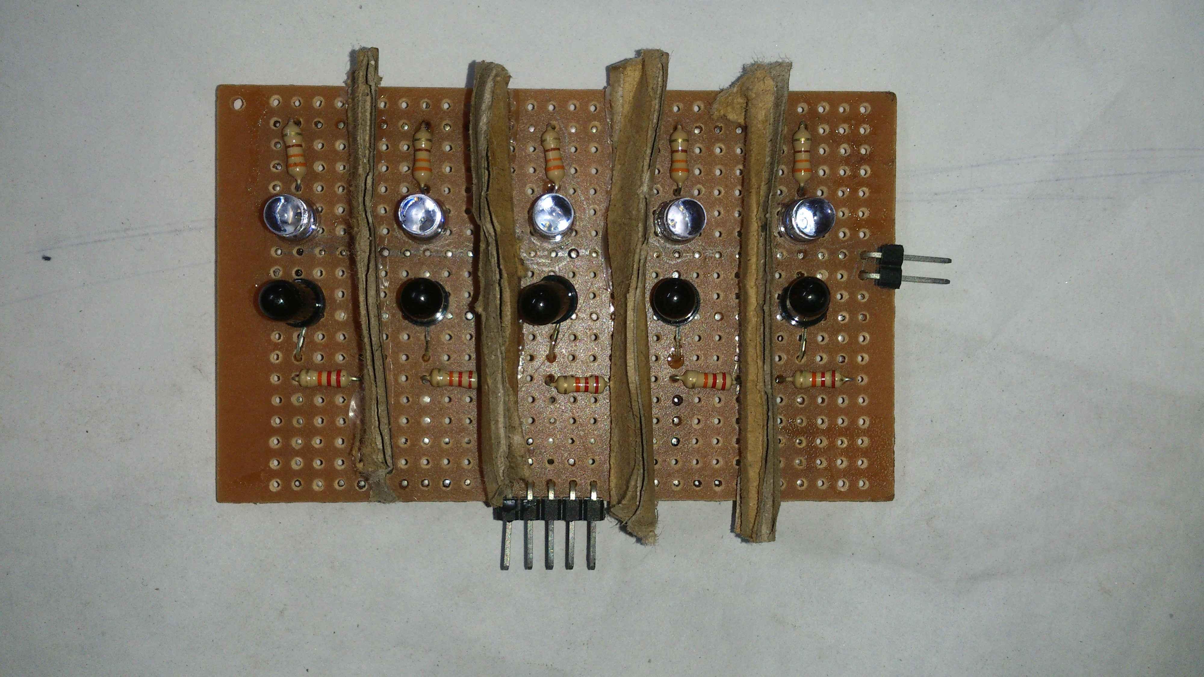 Diy Build Your Own Transporter Robot Technology Robotix Society Line Follower Scanner Schematic Following Sensor Array